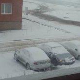 В Костанайской области выпал снег: шесть участков дорог закрыты