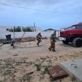 Молния ударила в жилой дом в Мангистау