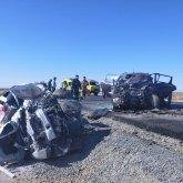 Девять человек погибли в жутком ДТП в Атырауской области