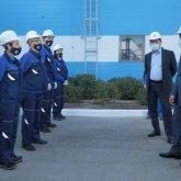 Бауыржан Байбек поблагодарил коллектив «КазАзота» за участие в общереспубликанской акции «BizBirgemiz»