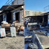 Поджигателей рынка задержали в Караганде