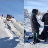 Женщина сломала позвоночник, скатившись с горки в Карагандинской области