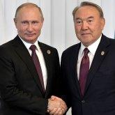 Владимир Путин тепло поздравил Нурсултана Назарбаева с наступающим Новым годом