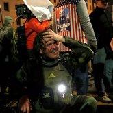 Акция протеста сторонников Трампа привела к стычкам с полицией