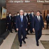 Садыру Жапарову показали Международный финансовый центр «Астана»