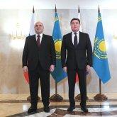 Михаил Мишустин на казахском языке поздравил Аскара Мамина с Наурызом
