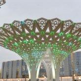 Летающий театр в форме гигантского золотого яйца откроют в Туркестане