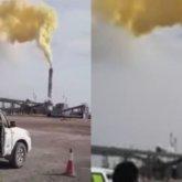 «Вредный дым желтого цвета»: выброс загрязняющих веществ произошел на Тенгизе