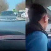Ради захватывающего видео водитель выехал на «встречку» в Алматы