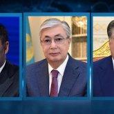 Токаев обсудил ситуацию на кыргызско-таджикской границе с Жапаровым и Рахмоном