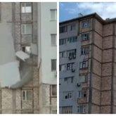 Меньше чем за неделю: в третий раз обрушилась облицовка многоэтажки в Актау