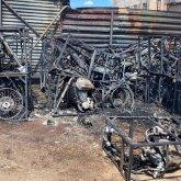 Десятки мотоциклов сгорели в Нур-Султане