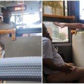 «Омерзительная сцена»: казах пристал к чернокожему иностранцу в алматинском автобусе