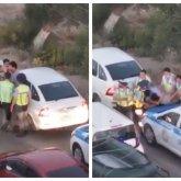 «Халк» и семеро полицейских: актауские стражи порядка с трудом усмирили нарушителя