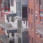 Мальчик на недостроенном балконе высотки напугал алматинцев