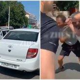 Дорожный мордобой попал на видео в Костанае