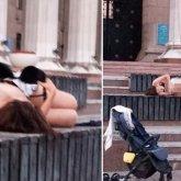 «Жарко ей может». Голая девушка загорала на площади в Алматы