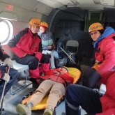Спасение туристки из России сняли на видео в горах Заилийского Алатау