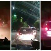 Погоню полицейских за водителем сняли на видео в Талдыкоргане