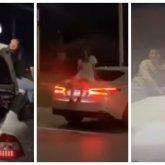 Парни и девушки отметили день рождения на крыше и капоте автомобилей в Атырау
