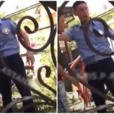 «Что за беспредел»: избивающего парня полицейского сняли на видео