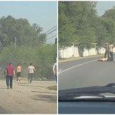 Толпа мужчин устроила жестокую драку на трассе близ Алматы