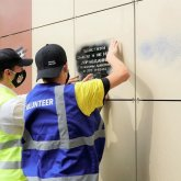 Акцию по закрашиванию наркорекламы на фасадах домов провели в Нур-Султане