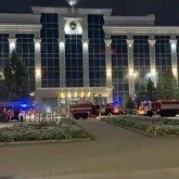 Пожар в здании акимата: выясняется причина происшествия