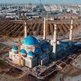 Строительство самой большой мечети Казахстана и Центральной Азии подходит к завершению