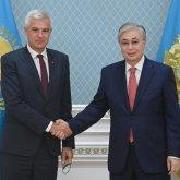 Президент Казахстана встретился с министром иностранных и европейских дел Словакии