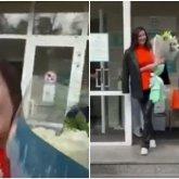 «Как из салона красоты»: появилось видео выписки Сабины Алтынбековой из роддома