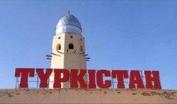 Белым мрамором облицуют фасады многоэтажек в Туркестане