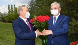Президент поздравил Елбасы с 80-летним юбилеем