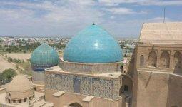 Реставрацию купола мавзолея Ходжи Ахмеда Яссауи завершили в Туркестане