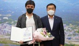 Спасшего людей при пожаре казахстанца наградили в Южной Корее