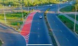 Новая дорожная разметка появляется в Нур-Султане и Алматы