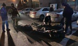 Бойцы спецназа задержали пять человек в Алматы