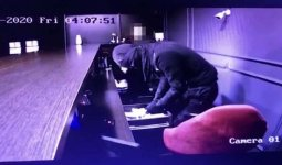 Нападение на букмекерскую контору попало на видео в Шу