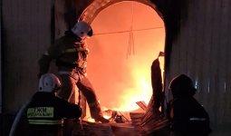 Крупный рынок горел в Актюбинской области