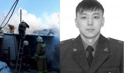 У погибшегов Аксу 23-летнего пожарного осталась беременная супруга