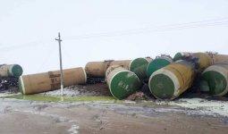 22 цистерны сошли с рельсов в Актюбинской области