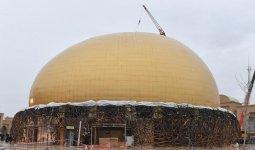 Хваленый театр лишился облицовки из-за ветра в Туркестане