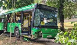 Распространяется видео страшного ДТП с участием автобуса в центре Алматы