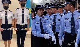 Пользователи обсуждают сходство формы полиции Казахстана и Китая