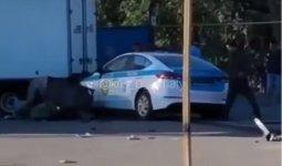 Полицейский насмерть сбил женщину в Алматы: появилось видео с места ДТП