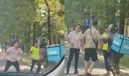 «Красавчик курьер»: ожесточенную драку с участием доставщика еды сняли на видео в Алматы