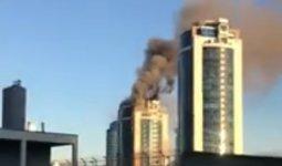 Здание «Казахмыса» горит в Нур-Султане