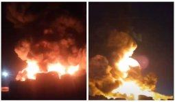 Крупный пожар на предприятии по переработке сырья потушен в Караганде