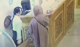 Алматинка украла ящик для пожертвований, воровку сняли на видео