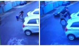 Женщина пыталась бросить под машину маленького ребенка в Алматы